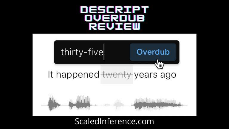 Descript Overdub AI